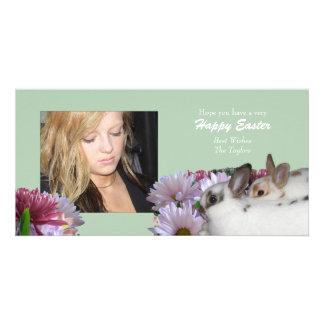 Tarjeta feliz de la foto de Pascua Tarjeta Fotografica Personalizada