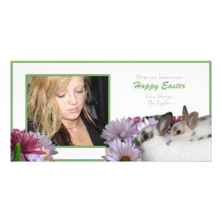 Tarjeta feliz de la foto de Pascua Tarjeta Fotografica