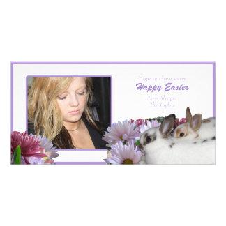 Tarjeta feliz de la foto de Pascua Tarjetas Fotograficas