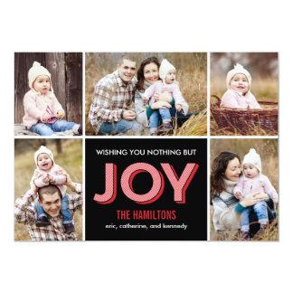 """Tarjeta feliz de la foto del collage del día de invitación 5"""" x 7"""""""