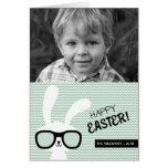 Tarjeta feliz de la foto del conejito el | Pascua