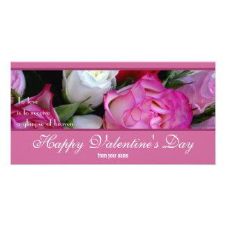 Tarjeta feliz de la foto del día de San Valentín Plantilla Para Tarjeta De Foto