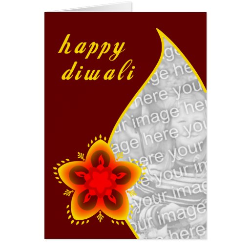 tarjeta feliz de la foto del diwali: ventana