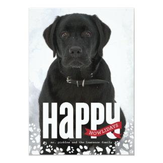 Tarjeta feliz de la foto del navidad del mascota invitación 12,7 x 17,8 cm