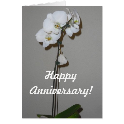 Tarjeta feliz de la orquídea del aniversario