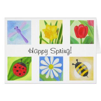 Tarjeta feliz de la primavera
