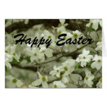 Tarjeta feliz de la rama del Dogwood de Pascua