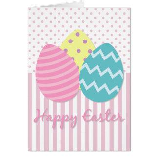 Tarjeta feliz de los huevos de Pascua Pascua