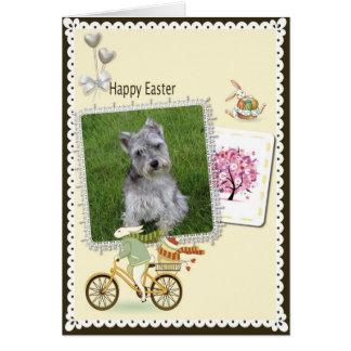 Tarjeta feliz de los Schnauzers miniatura de Pascu