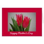 Tarjeta feliz de los tulipanes del día de madre