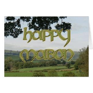 Tarjeta feliz de Mabon