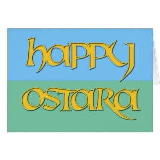 Tarjeta feliz de Ostara para los Pagans