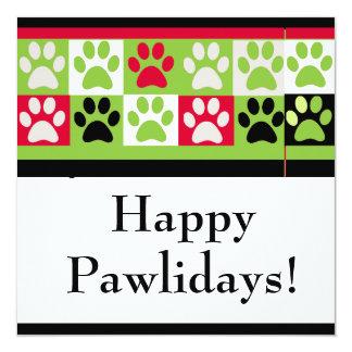 """Tarjeta feliz de Pawlidays Invitación 5.25"""" X 5.25"""""""