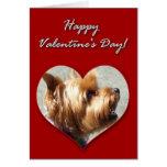 Tarjeta feliz de Yorkshire Terrier del el día de S