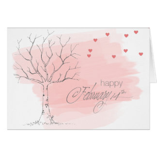 Tarjeta feliz del 14 de febrero