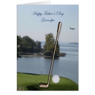 Tarjeta feliz del abuelo del golf del día de padre