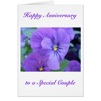 Tarjeta feliz del aniversario de boda