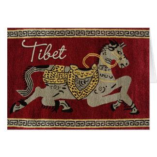 Tarjeta feliz del caballo de Tíbet