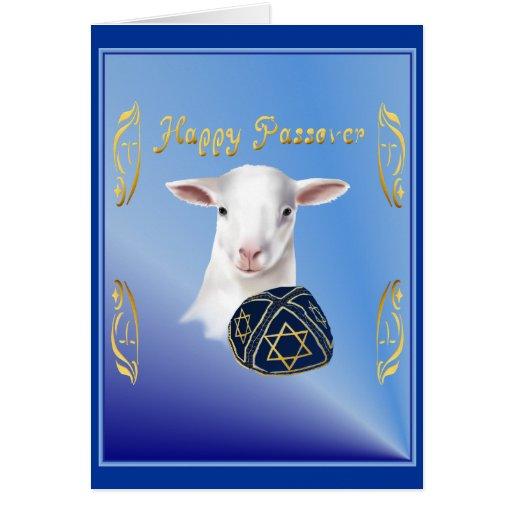 Tarjeta feliz del cordero del Passover