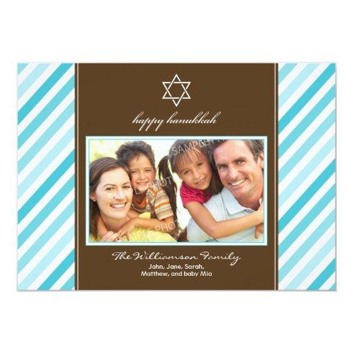 Tarjeta feliz del día de fiesta de la familia de comunicado personalizado