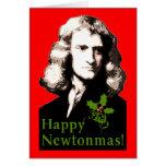 Tarjeta feliz del día de fiesta de Newtonmas