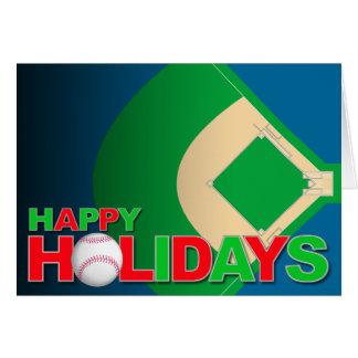 Tarjeta feliz del día de fiesta del béisbol