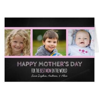 Tarjeta feliz del día de madre de la foto de la pi