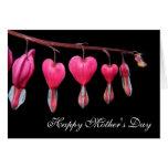 Tarjeta feliz del día de madre de los corazones sa