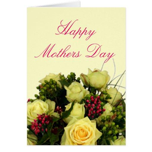 Tarjeta feliz del día de madres con verso