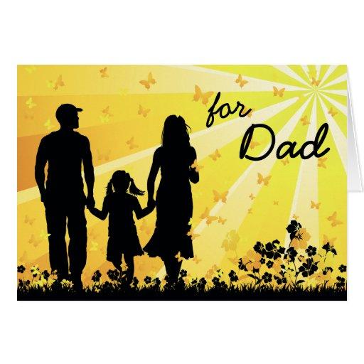 Tarjeta feliz del día de padre