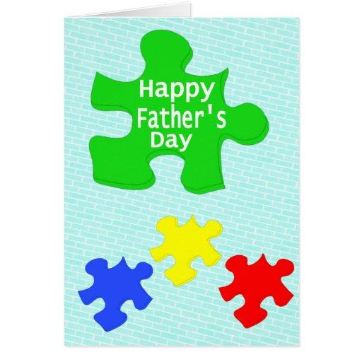 Tarjeta feliz del día de padre de los amantes del