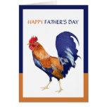 Tarjeta feliz del día de padre del gallo