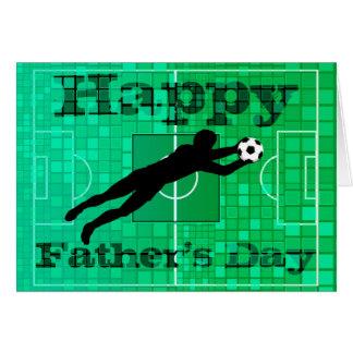 Tarjeta feliz del día de padre del papá del fútbol