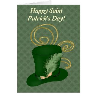Tarjeta feliz del día de Patricks del santo