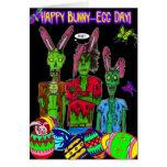 tarjeta feliz del día del conejito-huevo