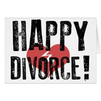 Tarjeta feliz del divorcio