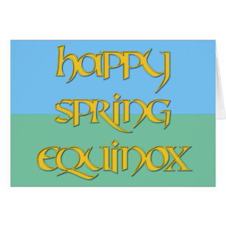 Tarjeta feliz del equinoccio de primavera