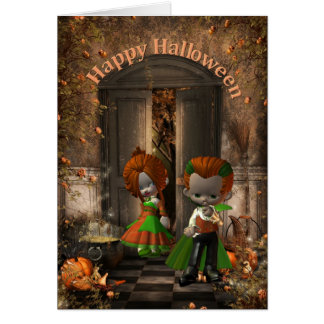 Tarjeta feliz del Halloween-Aniversario