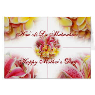 Tarjeta feliz del Hawaiian del día de madre