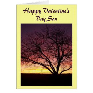 Tarjeta feliz del Hijo-Saludo del el día de San Va