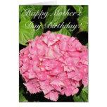 Tarjeta feliz del Hydrangea del rosa del cumpleaño