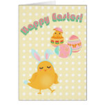 Tarjeta feliz del pájaro de Pascua