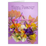 Tarjeta feliz del Passover con la estrella de