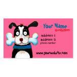 tarjeta feliz del perfil del perro plantilla de tarjeta personal