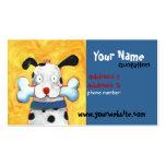 tarjeta feliz del perfil del perro plantillas de tarjetas de visita