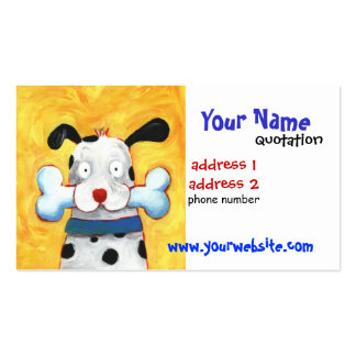 tarjeta feliz del perfil del perro tarjetas de visita