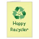 Tarjeta feliz del reciclador
