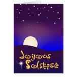 Tarjeta feliz del solsticio