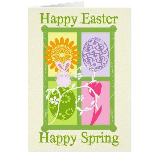 Tarjeta feliz feliz de la primavera de Pascua