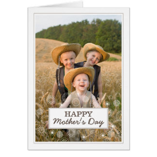 Tarjeta feliz moderna de la foto del día de madre